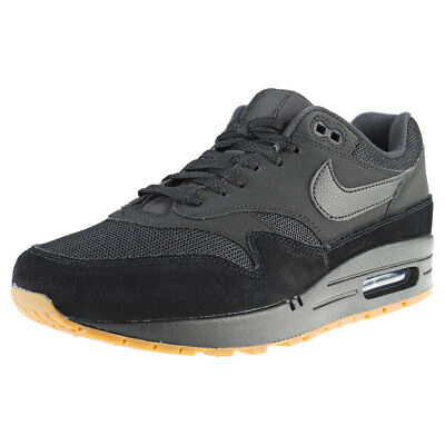 the latest 332bd ec0ea Nike Air Max 1 Black Gum Mens Trainers - AH8145-007