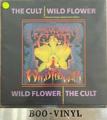 "The Cult Wild Flower Guitar Dub 1987 Uk Press 3 Track 12"" Vinyl Record Ep Ex/ex"