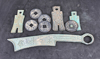 Ancient Chinese Knife and Spade coins bronze LOT C
