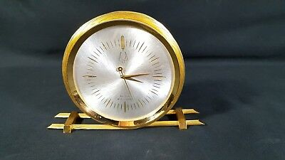 Vintage Bulova Accutron Rope Desk Clock with early 214 tuning fork movement