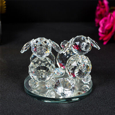 Decorative Crystal Animal Dog Ornament Gift Present in a Gift Box