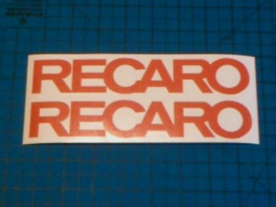 Recaro 2 200mm Sponsor decal sticker Motorsport Rally Race All Colours