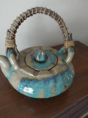 Antique Japanese Satsuma Teapot-Signed