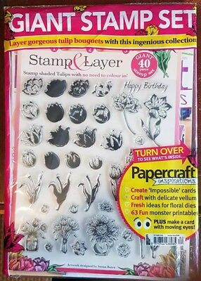 Papercraft Inspirations Magazine Issue #182 - October 2018 With Giant Stamp Set