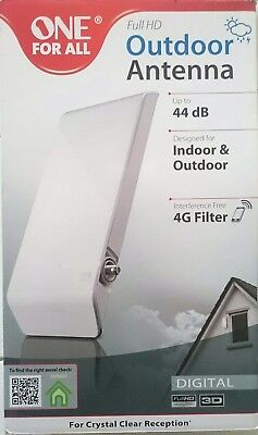 One for All SV 9450 ‑ DVB-T2 Full HD Antenne für Außenbereich Outdoor und Indoor