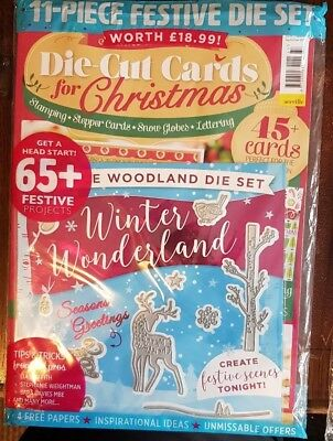 Make It Today magazine #37 SEP 2018  Die-Cut Cards for Christmas + 11-Piece Set