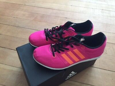 Girls Adidas Running Spikes And Shoe Bag  Size 4 Uk