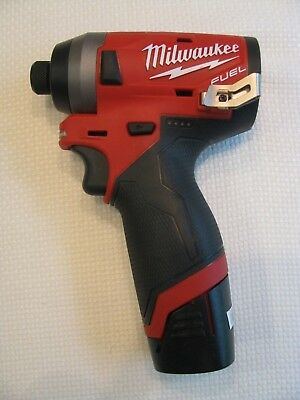 Milwaukee 2553-20 12v 1/4-Inch M12 FUEL Hex Impact Driver and Battery