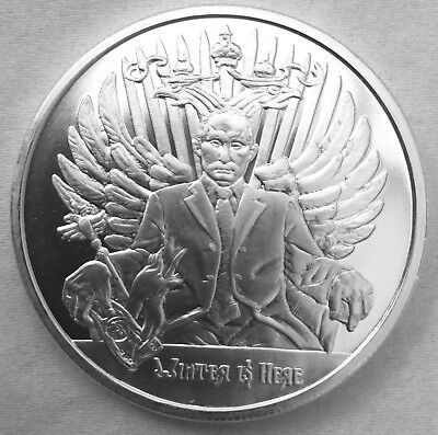 2017 Silver Shield Winter Is Here MiniMintage 1 oz Silver Putin Round
