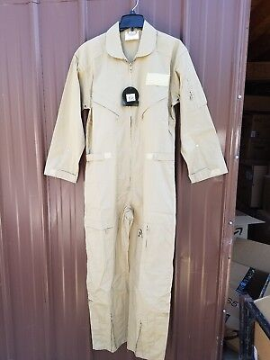 ROTHCO KHAKI Air Force Style Flight Suit Cotton Coveralls - JUMP SUIT Small