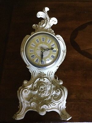 Vintage UNITED Metal Goods Electric Clock Brooklyn NY Antique Mantle Table