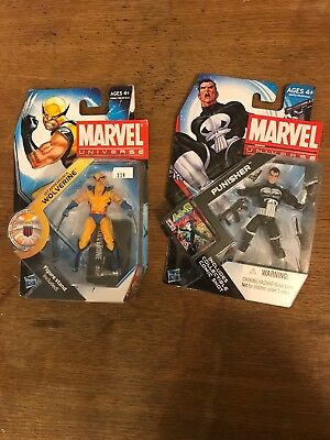 marvel universe lot Punisher And Wolverine