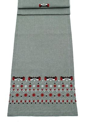 Robina Embroidered Robins Table Linen - Napkin, Placemat and Table Runner
