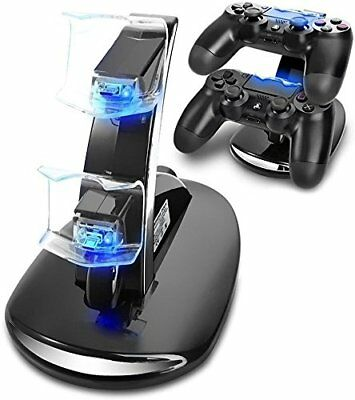 Ps4 Controller Charger Usb Charging Station Dual Dock Stand Led Sony Docking Pro