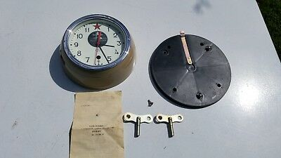 Russian Submarine Mechanical Clock--PARTS or RESTORATION--AS IS