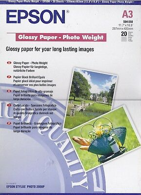 Epson A3  Glossy Paper Photo Weight  x20 Sheets Unopened Pack, SO41350