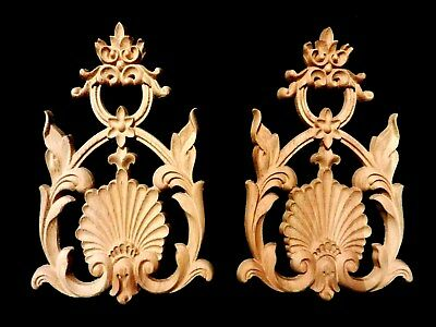 Ornamente.2St.EMPIRE.Verzierungen.Holzornament.Schnitzerei.Barock.Wood Appliques