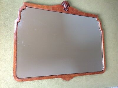 Antique Walnut Vaneer Framed Mirror in good condition