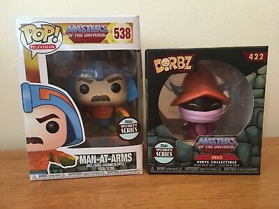 Man at Arms (Masters of the Universe) Funko Pop! and Orko Dorbz Specialty Series