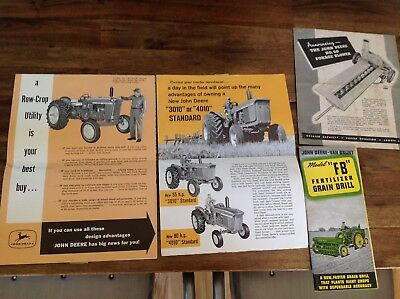 VINTAGE JOHN DEERE VAN BRUNT MODELB GRAIN DRILL BROCHURE, Model 3010/4010/1010