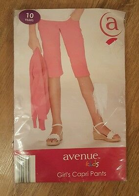 New Tags Girls Pink Capri Shorts Cropped 10 years Avenue Pockets Summer