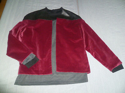 Star Trek Captain Picard Uniform Jacke + Untershirt The Next Generation L/XL NEU