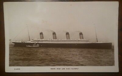 White Star Line Olympic at Liverpool in June 1911 original postcard