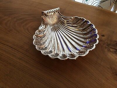 Victorian STERLING SILVER Pierced Floral BONBON / PIN DISH Sheffield 1893 (214g)