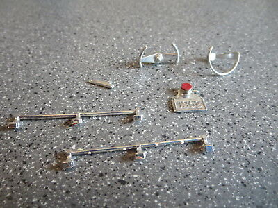 Vintage Model Kit Custom Pick Up Box Rails And Steering Wheels  Amt/revell/mpc/