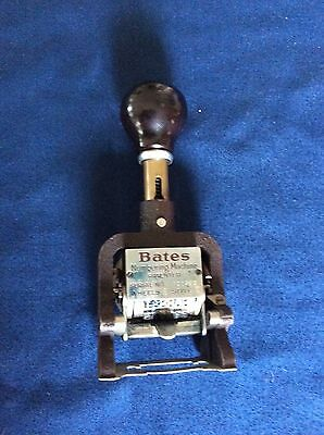 Vintage Bates Commercial Multiple Movement Numbering Machine 6 Wheels Style E