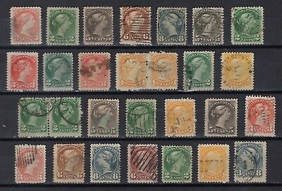 Canada #35--39//43-44      Small Queen Issues 1870-1897   Fine