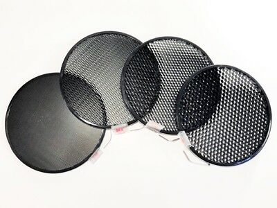"""Speedotron - 7"""" Honeycomb Grid Set (4) - Includes: 10, 20, 30, and 40° grids"""