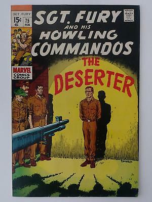 SGT. FURY and his HOWLING COMMANDOS #75 (VF- 7.5) FIRING SQUAD COVER