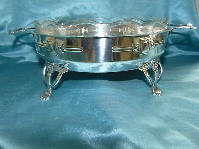 Amazing Large Arts & Crafts Scottish School Silver Plate & Crystal Centrepiece!