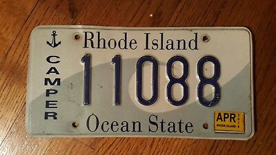 Rhode Island license plate Camper 11088 nice quality FAST shipping 2015