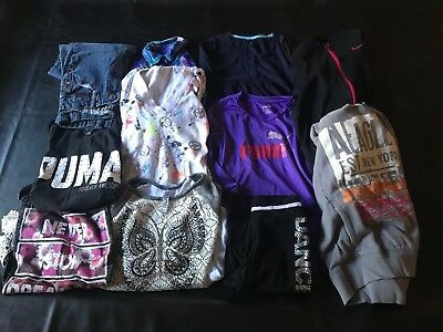 Lot of Girls Size 10 Fall and Winter Clothes..Justice, Puma, Nike, Gap, Mudd