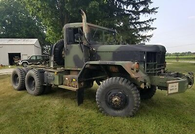 AM General M818 Military Semi Truck with Winch