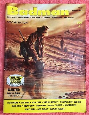 """Badman"" Vintage Magazine 1971 Vol 1 NO 2 Old West Outlaws Stories & Photos"