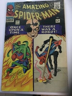 """THE AMAZING SPIDER-MAN ORIGINAL US MARVEL COMIC, """"Once upon a time a Robot #37"""