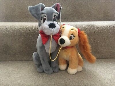 Disney's Lady & The Tramp Soft Plushes, Brand New With Tags