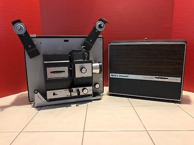 Vintage BELL & HOWELL Autoload Super 8MM Film Movie Projector 466A TESTED