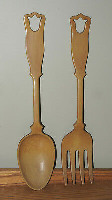Old Spoon Fork Wall Decor 1970 S Giant Emig Rare Kitchen Art