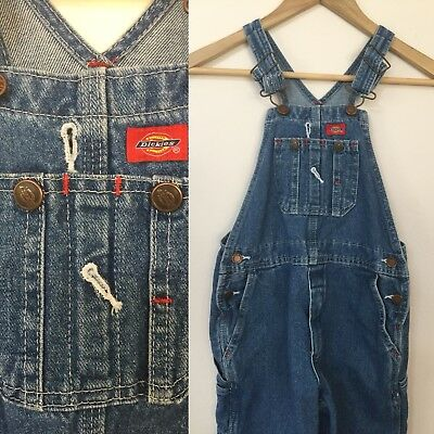 Dickies Youth Kids Size Large Jean Denim Bib Overalls Classic Fit