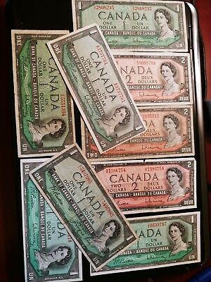 Canadian paper money 1954 Lot