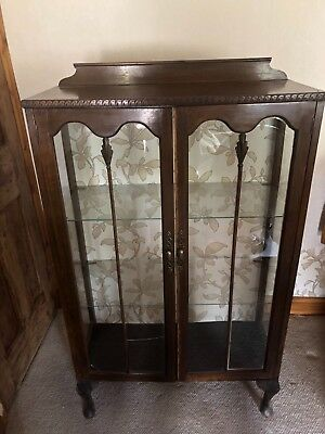 Edwardian Style Mahogany Vintage/Antique Floor Standing Display Cabinet.
