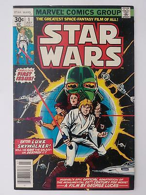 Star Wars #1 (Fn 6.0) 1977; Fabulous First Issue! Luke Skywalker! Darth Vader!