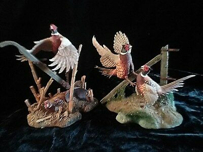 Spring Rivals & Holding Tight Sculpture Figurines by Nick Bibby of Pheasant Bird