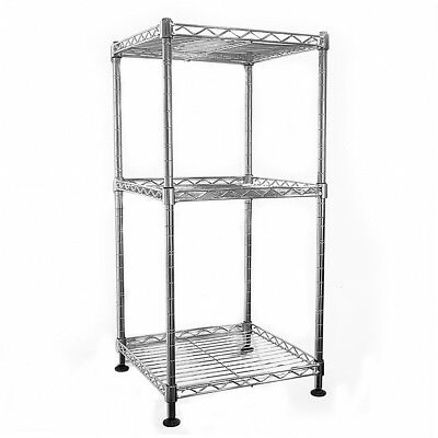 64x30x30cm Real Chrome Wire Rack Metal Steel Kitchen Garage Shelving Racks UKES