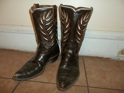 vintage acme 50s western inlay cowboy boots