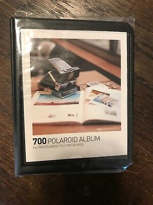 Polaroid 700 Fuji Instax Wide Photo Album - Black - NEW - 33 Photo Capacity